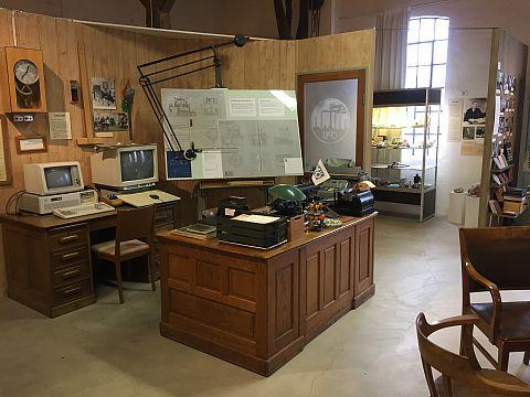 Iföverkens Industrimuseum utställning historisk kontorsmiljö