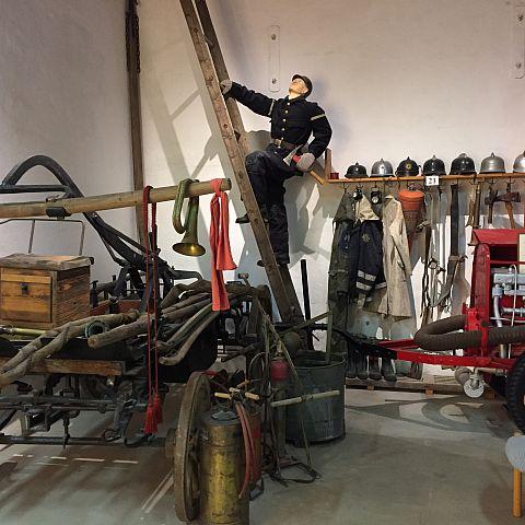 Iföverkens Industrimuseum utställning Brandkåren