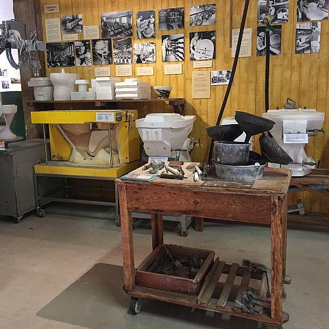 Iföverkens Industrimuseum utställning Formar Sanitetsgods