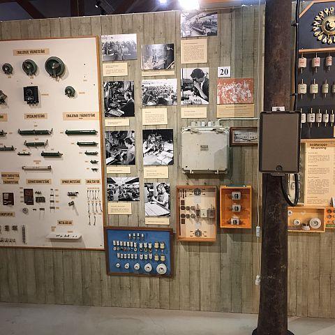 Iföverkens Industrimuseum utställning Säkringar och motstånd