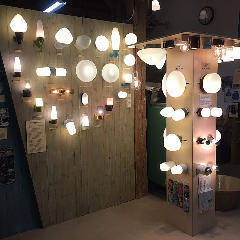 Iföverkens Industrimuseum utställning Belysningsarmatur