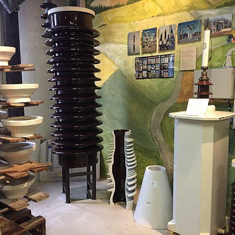 Iföverkens Industrimuseum utställning Isolatorer