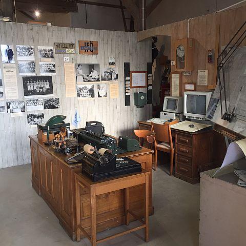Iföverkens Industrimuseum utställning Kontor 2