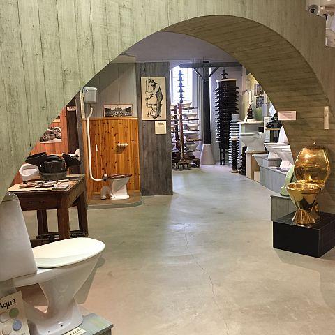 Ifövverkens Industrimuseum utställning Sanitetgods