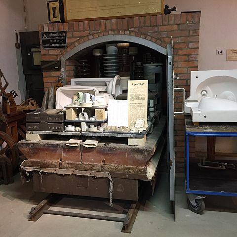 Iföverkens Industrimuseum utställning Brännugnar