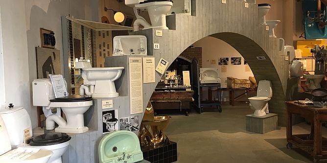 Iföverkens Industrimuseums utställning Sanitesporslin